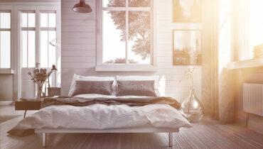 Kleines Schlafzimmer für die große Erholung