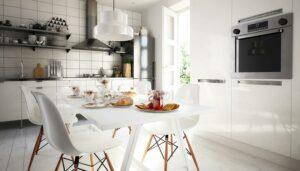 Ein Wechselspiel von Farben in der Küche
